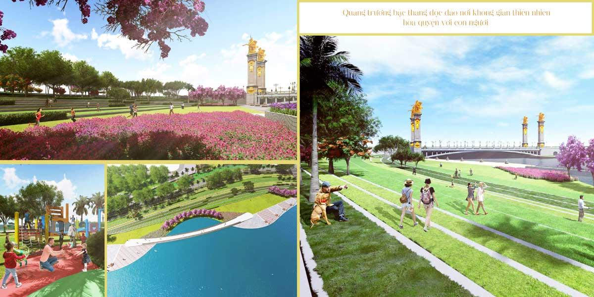 Quảng trường Bậc thang Royal Star Lake Đồng Xoài Bình Phước