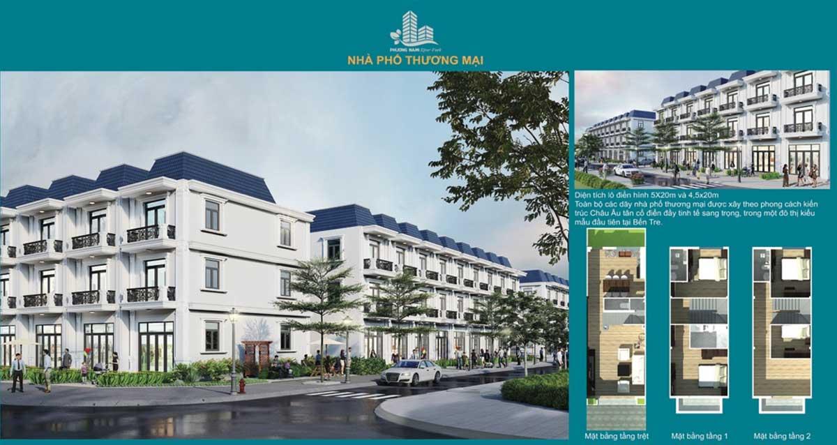 Thiết kế Nhà phố thương mại Phương Nam River Park