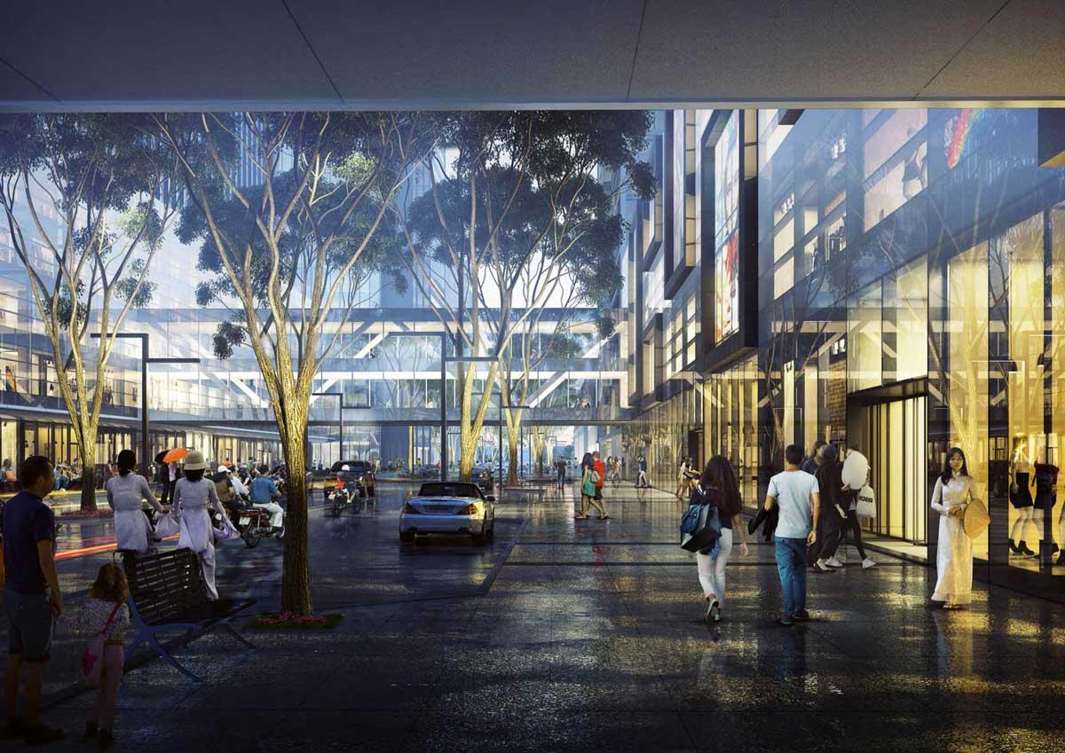 Tiện ích Khu trung tâm thương mại Dự án Khu Đô Thị River City Thủ Đức