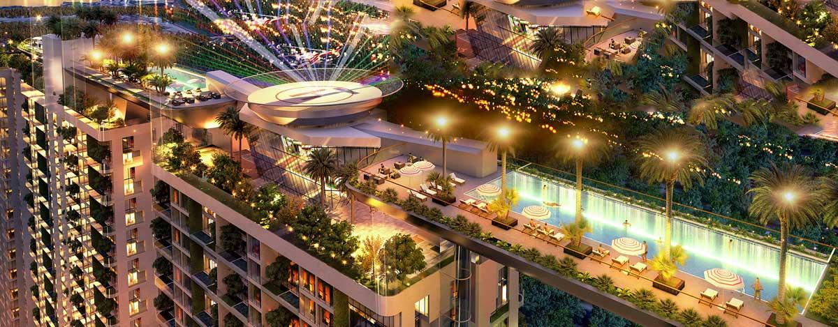 Tiện ích tầng thượng Căn hộ Sunshine Continenal Thành Thái Quận 10