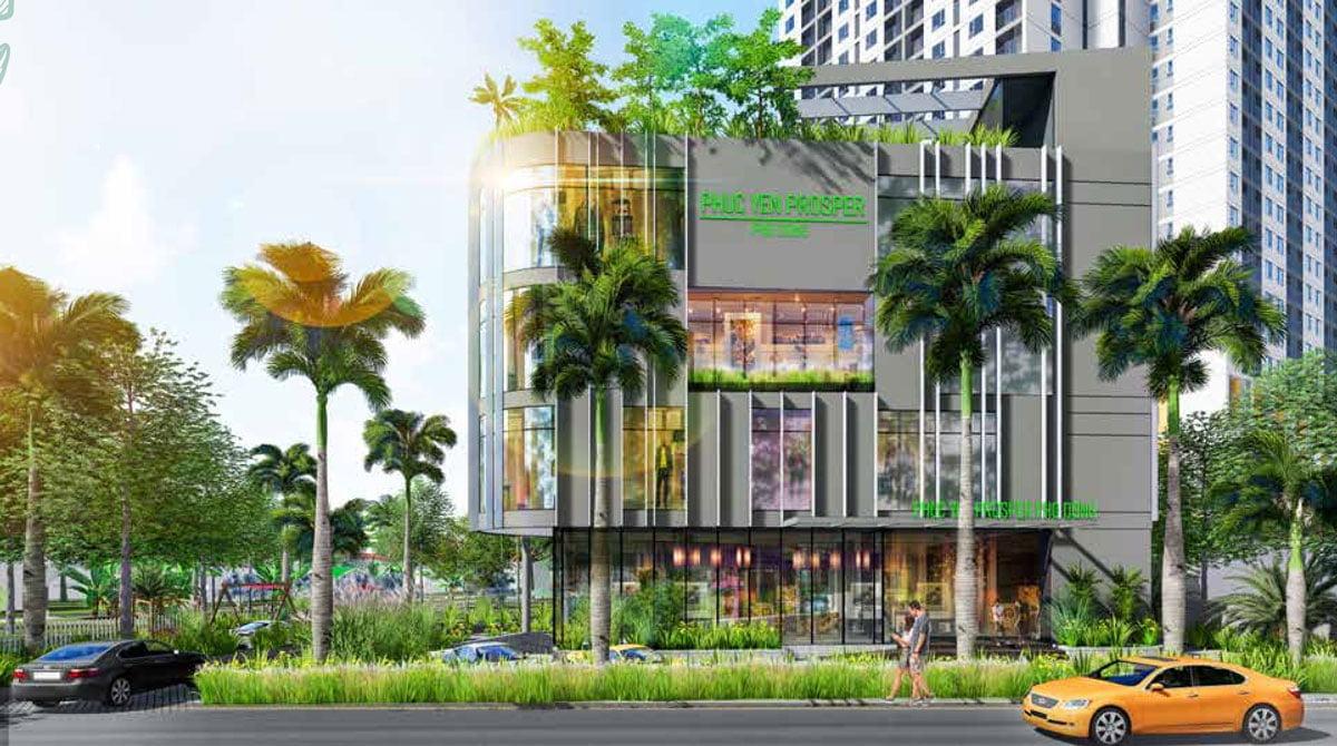 Tòa trung tâm thương mại 4 tầng Dự án Phúc Yên Prosper Phố Đông