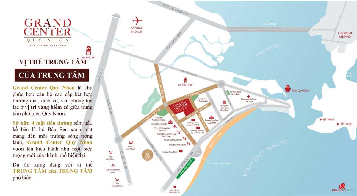 Vị trí Dự án Căn hộ Grand Center Quy Nhơn