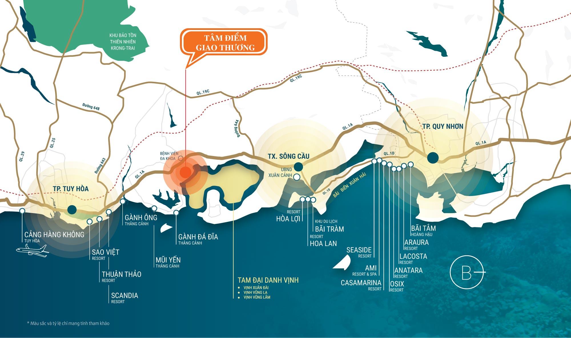vị trí dự án kdc đồng mặn phú yên