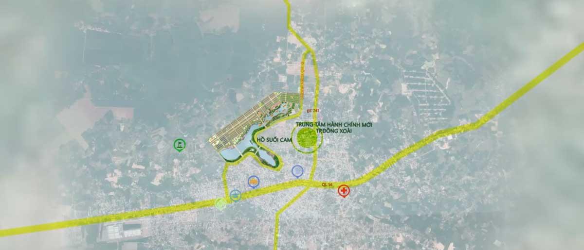 Vị trí Dự án Royal Star Lake Hồ Suối Cam Đồng Xoài Bình Phước