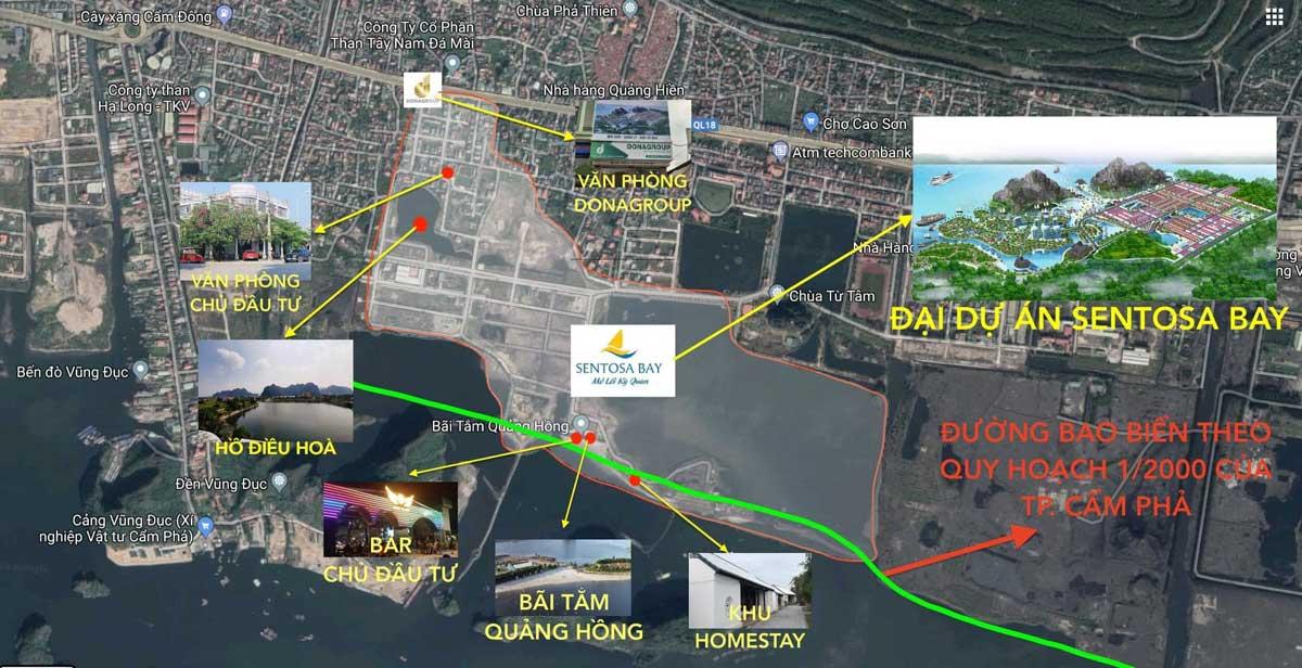 Vị trí dự án Sentosa Bay Cẩm Phả Quảng Ninh