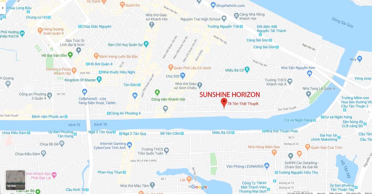Vị trí Dự án Căn hộ Sunshine Horizon Trên ggogle maps