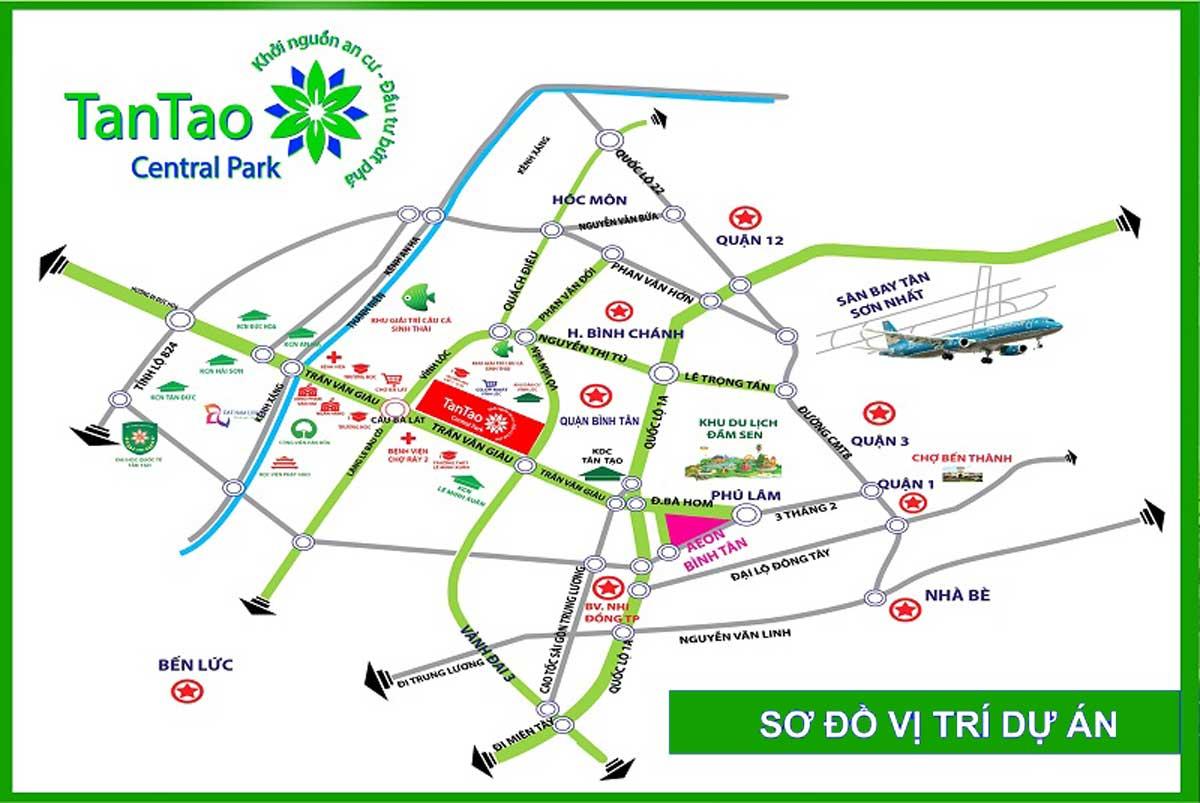 Vị trí Dự án Tân Tạo Central Park Bình Chánh