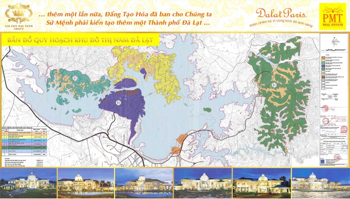 Bản đồ Quy hoạch Khu đô thị thương mại du lịch nghỉ dưỡng sinh thái Đại Ninh