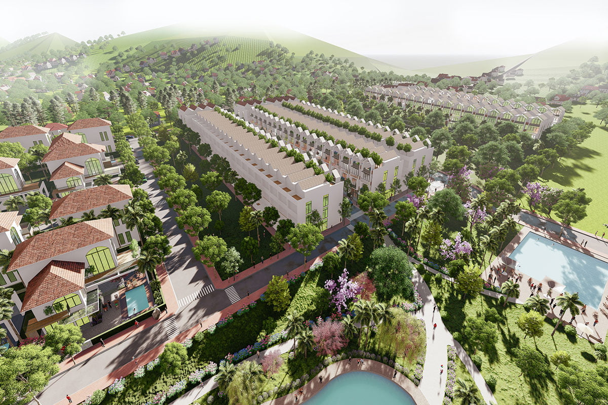 Phối cảnh Dự án Bảo Lộc Park Hills