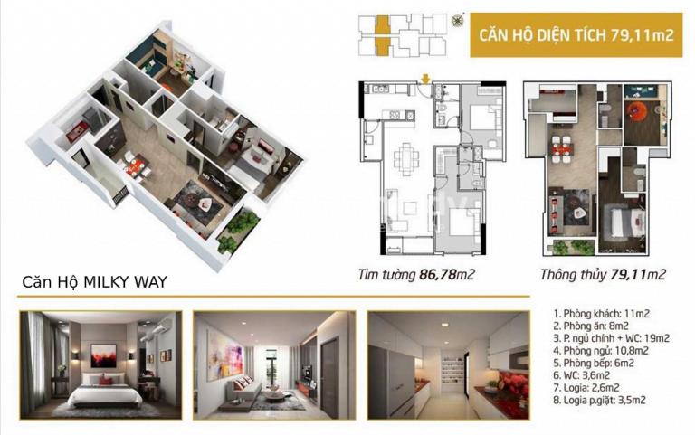 Thiết kế căn hộ chung cư Milky Way Bình Tân