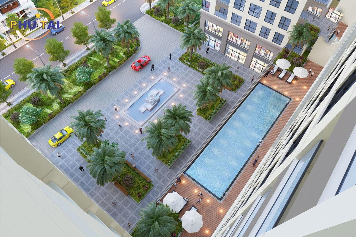 Hồ bơi Dự án Căn hộ Chung cư Phú Tài Residence