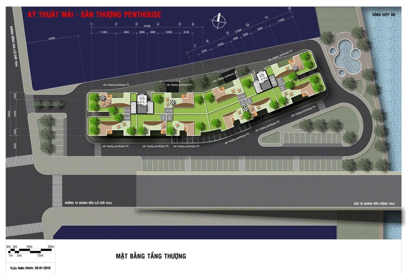 Măt bằng Thiết kế dự án royal park riverside quận 8