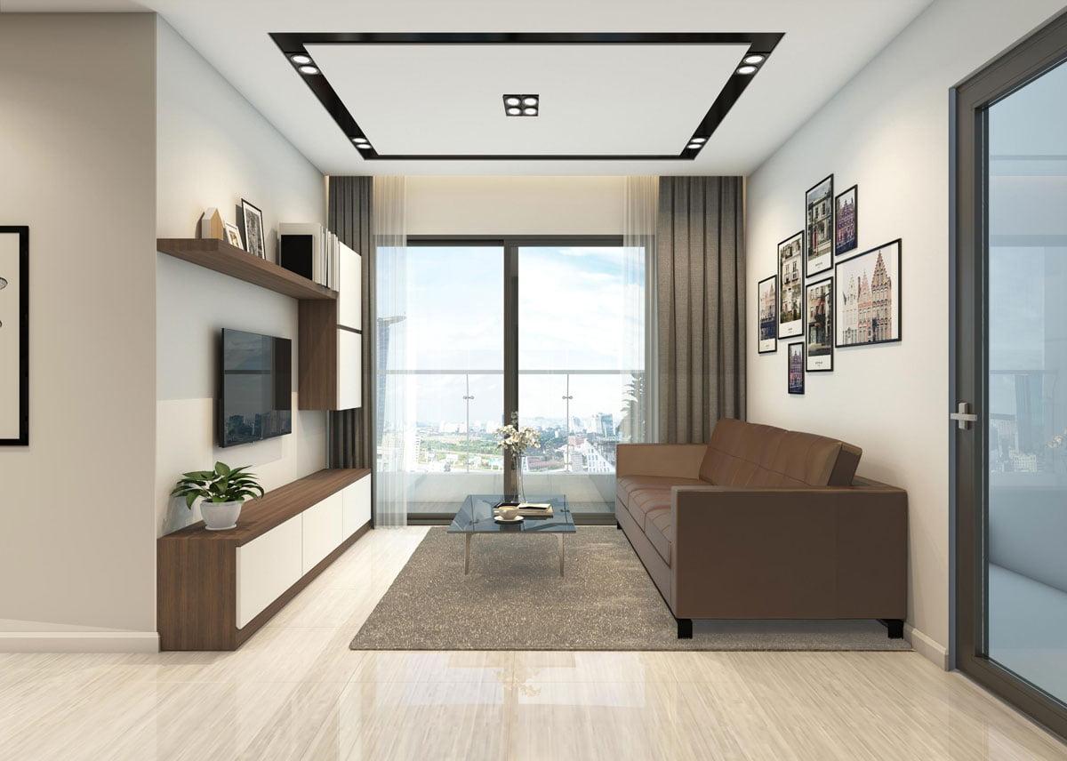 Phòng khách Căn hộ Chung cư Phú Tài Residence