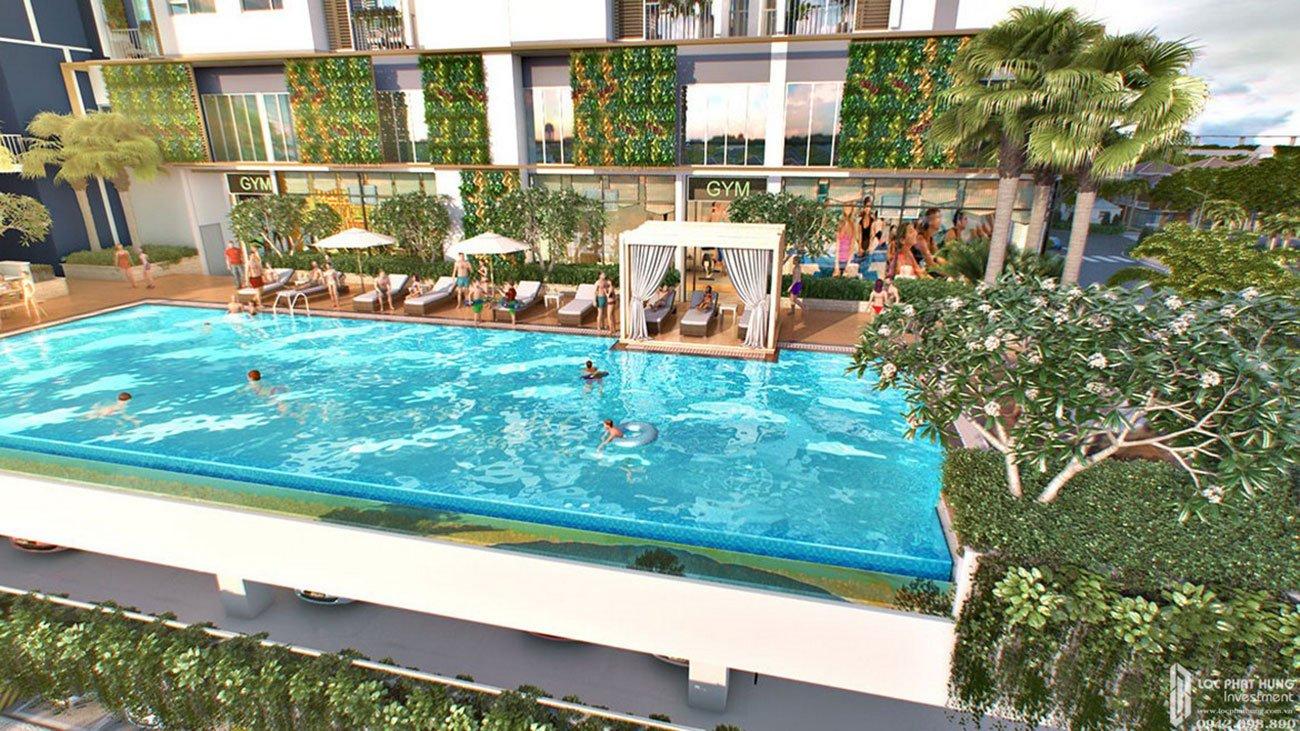 Hồ bơi dự án căn hộ cao cấp Royal Park Riverside
