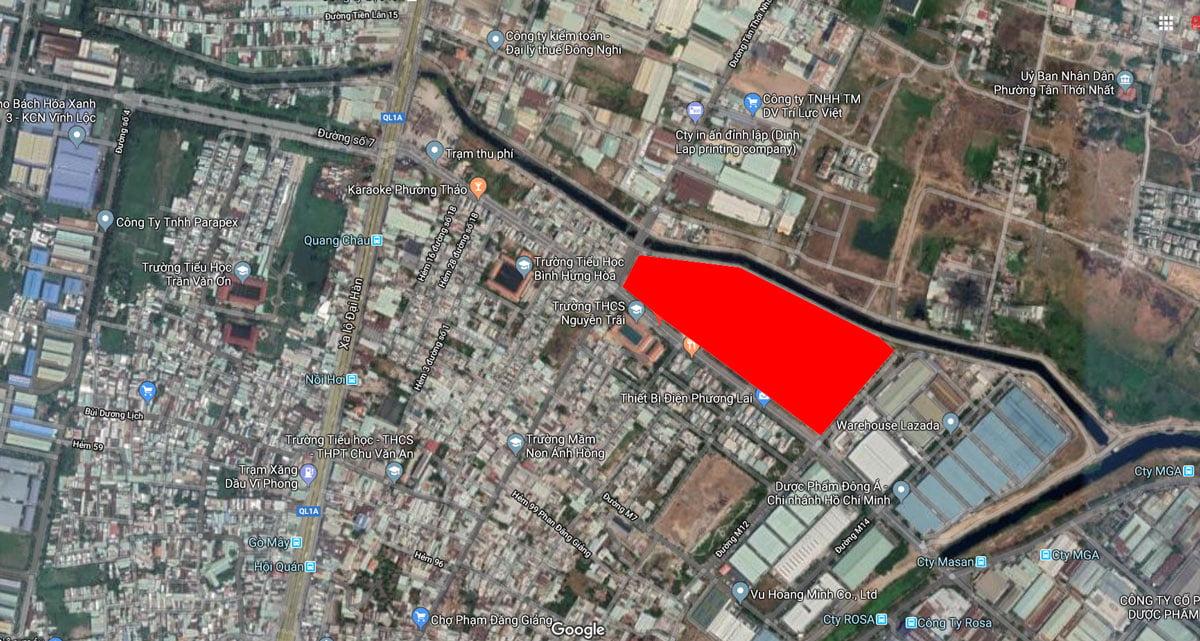 Vị trí Dự án Căn hộ Chung cư Milky Way Bình Tân trên Google Maps