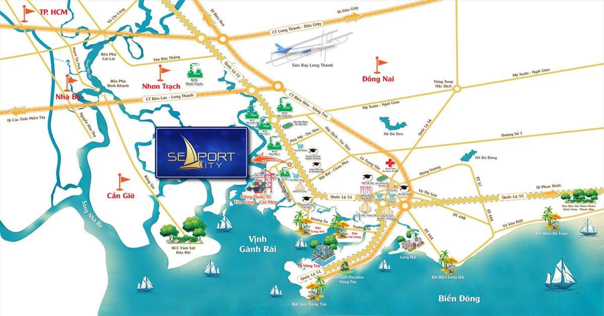 Vị trí Dự án SeaPort City Thị xã Phú Mỹ, Tỉnh Bà Rịa – Vũng Tàu