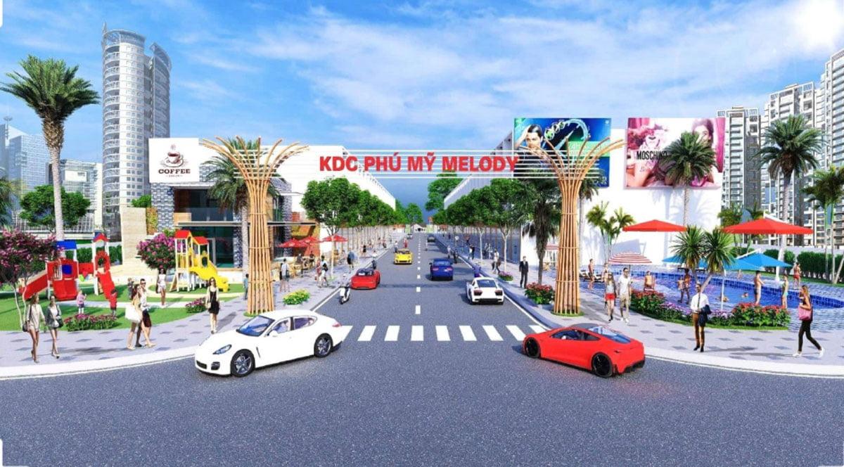 Phối cảnh dự án đất nền Phú Mỹ Meody thị xã Phú Mỹ Bà Rịa