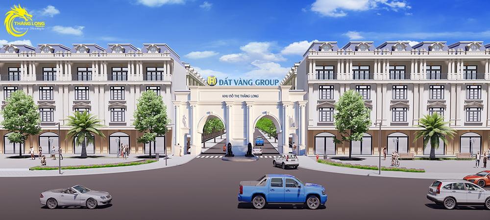 cổng chào Dự án Khu đô thị Thăng Long Residence Bình Dương