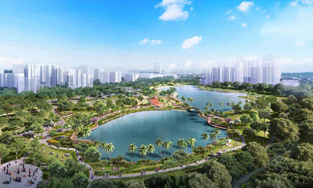 Hồ Sinh Thái trung tâm Dự án Khu đô thị Vinhomes Hóc Môn