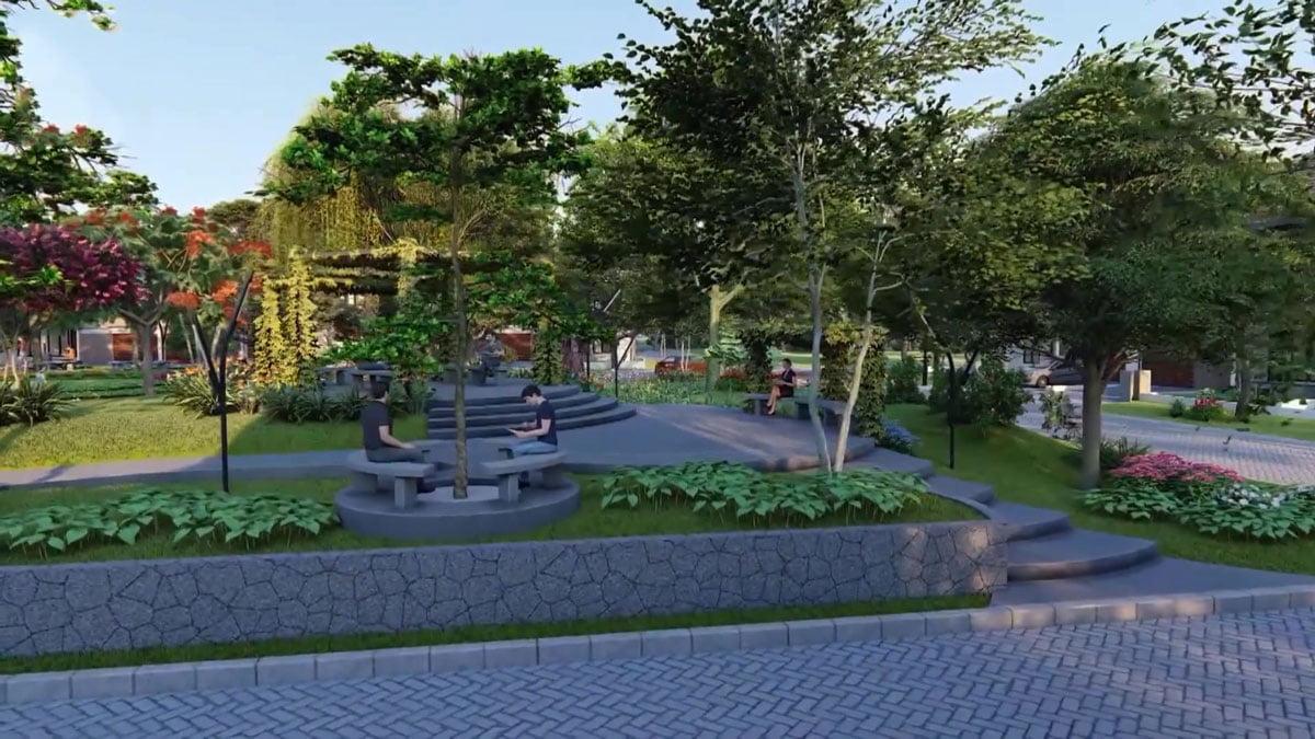 Công viên cây xanh Khu đô thị Thăng Long Residence Bình Dương