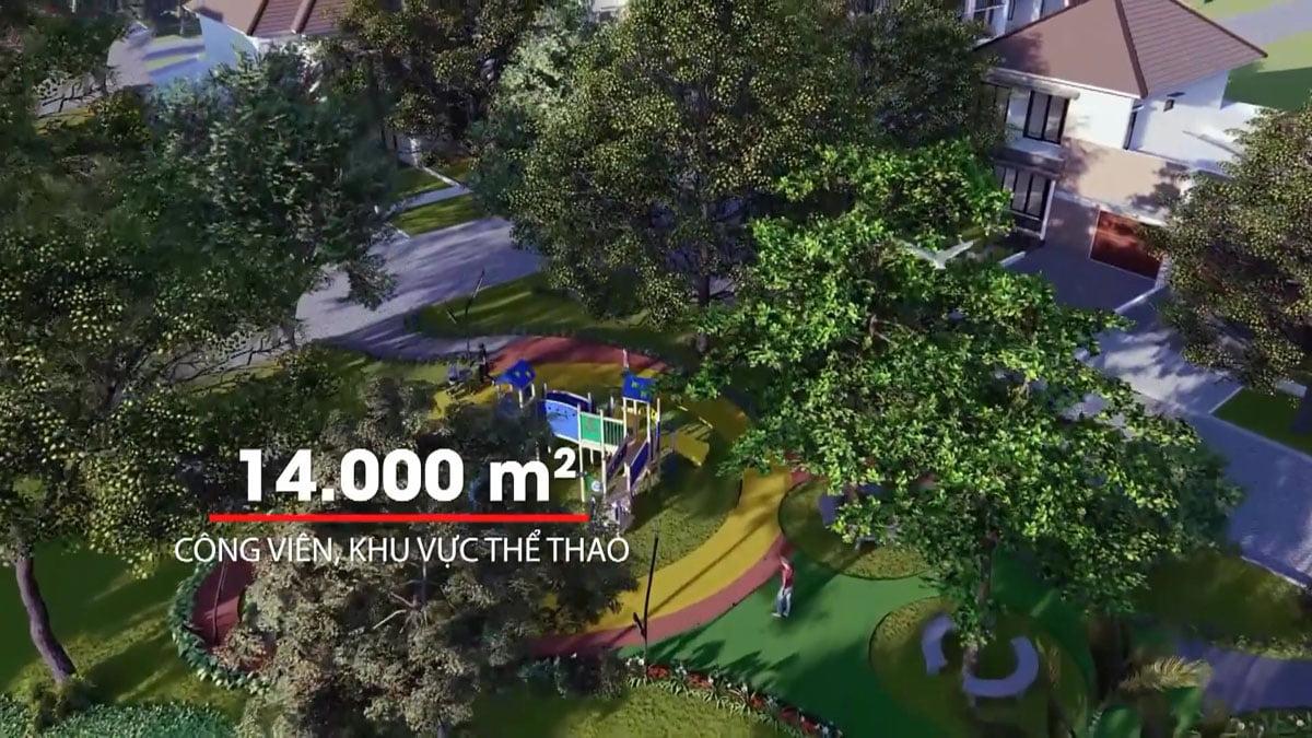 Khu Công viên va Thể thao Dự án Thăng Long Residence Bình Dương