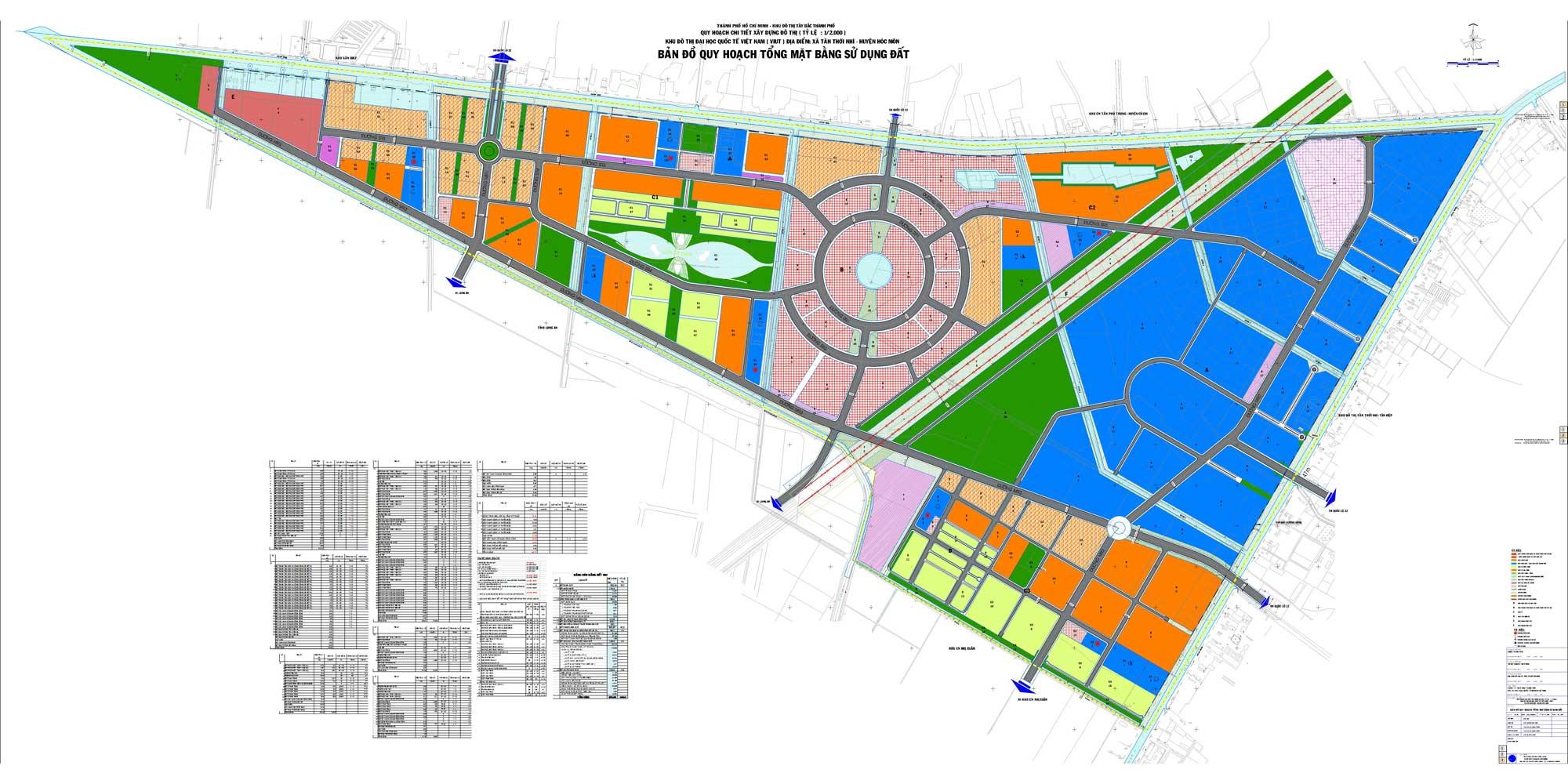 Mặt bằng Dự án Khu đô thị Vinhomes Hóc Môn