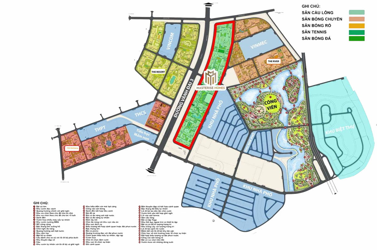 Mặt bằng Dự án Căn hộ Masterise Grand Park Quận 9