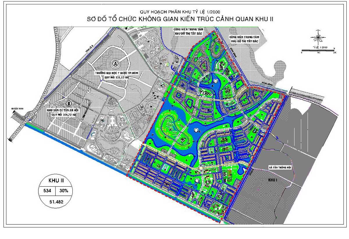Phân khu chức năng số II Dự án Khu đô thị Vinhomes Hóc Môn