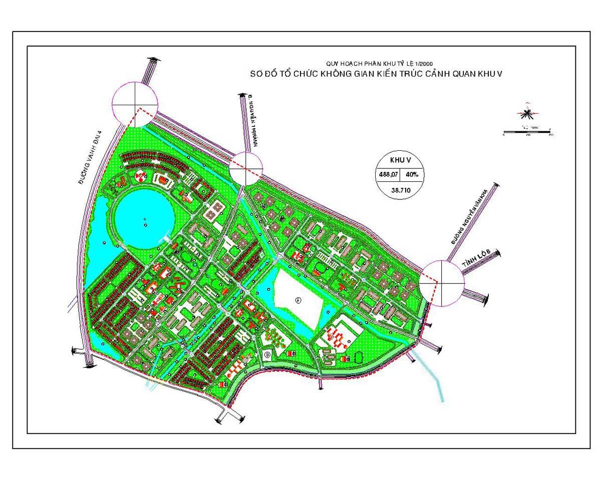 Phân khu chức năng số V Dự án Khu đô thị Vinhomes Hóc Môn