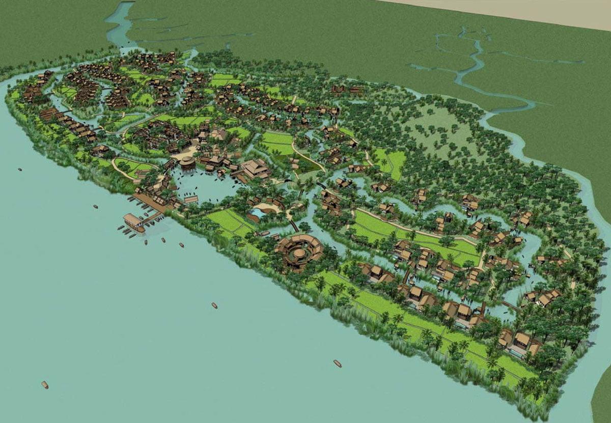 Phối cảnh Dự án Biệt thự Six Senses Saigon River Nhơn Trạch Đồng Nai