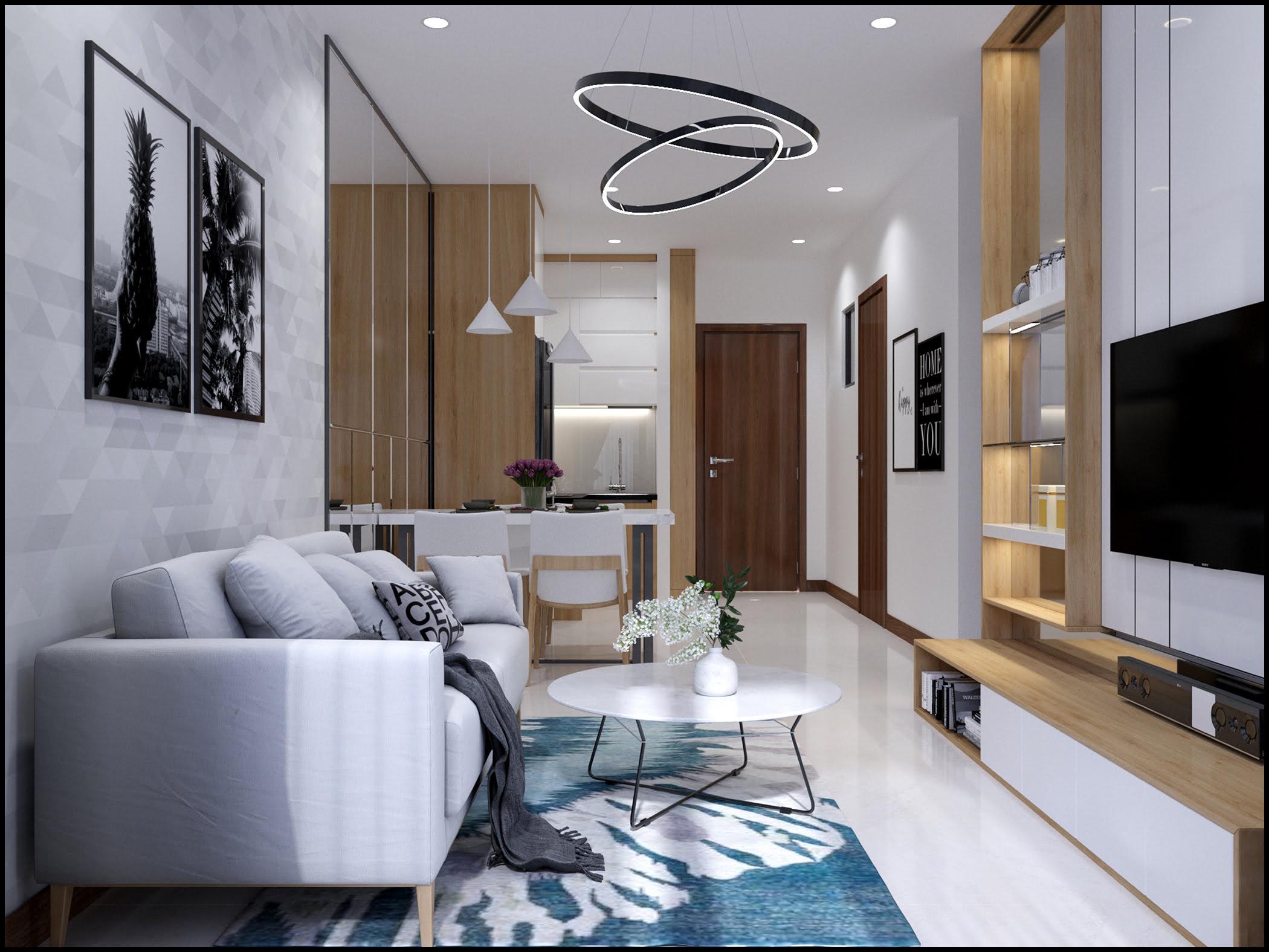 Thiết kế phòng khách chung cư bcons green view