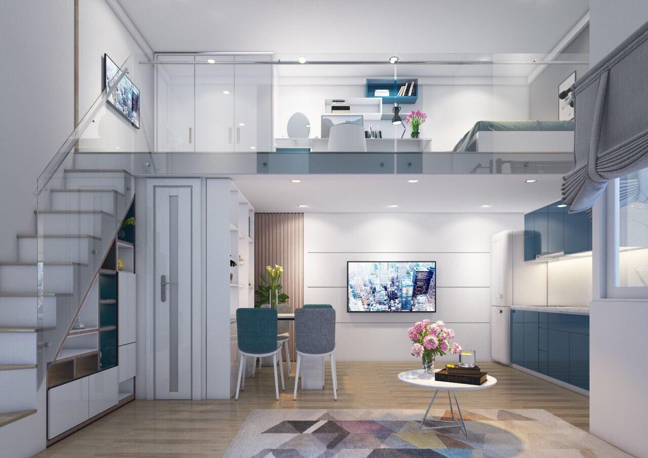 Thiết kế căn hộ mini 9x Tân phú