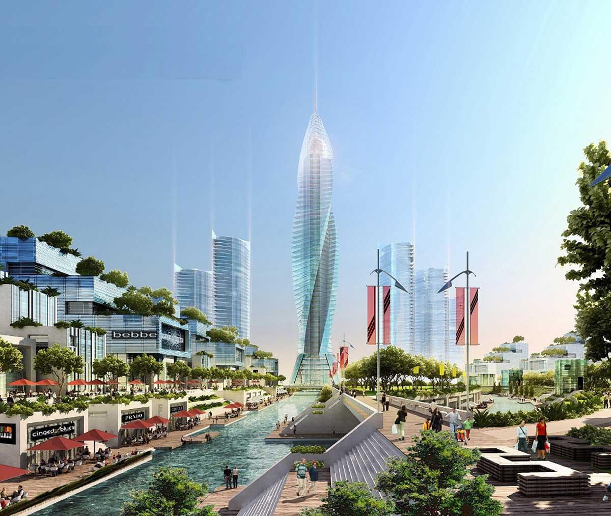 Tòa tháp trung tâm Khu đô thị Đại học Quốc tế Việt Nam – Vinhomes Hóc Môn