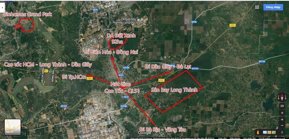 Vị trí Dự án Khu đô thị Hà An Long Thành Đồng Nai