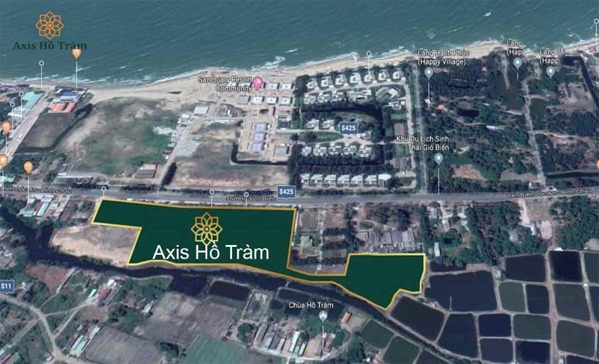 Vị trí Dự án Axis Hồ Tràm Xuyên Mộc Bà Rịa Vũng Tàu