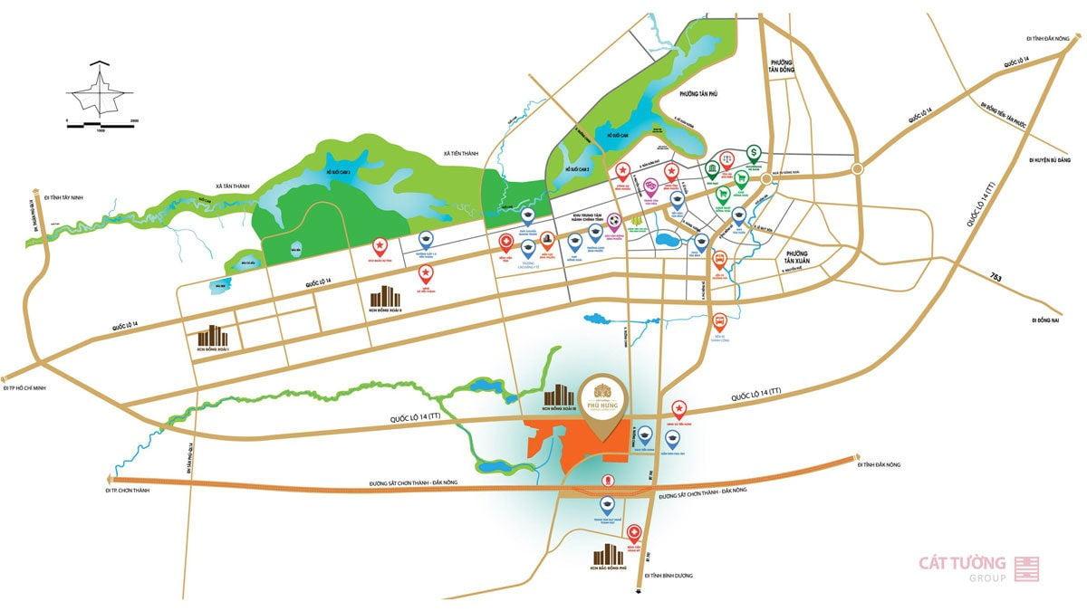 Vị trí dự án khu phức hợp cảnh quan Cát Tường Phú Hưng