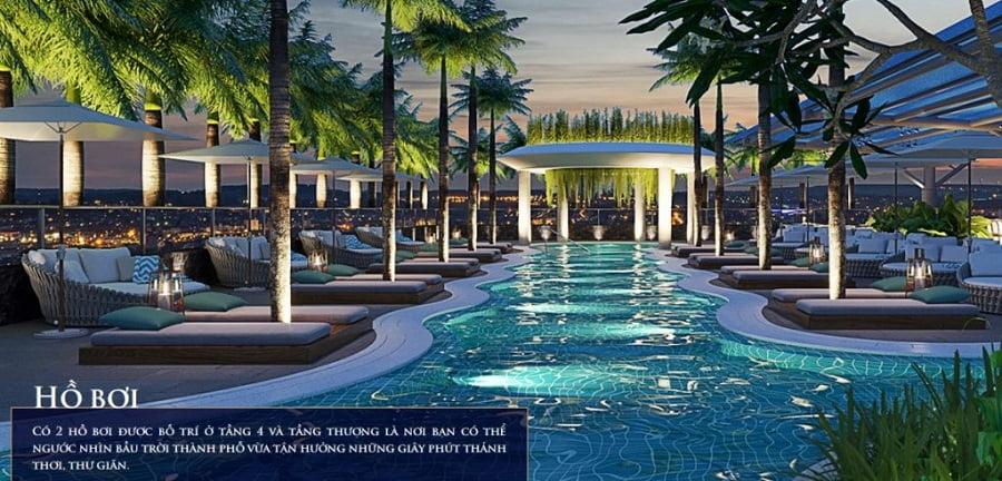 Hồ bơi Dự án Căn hộ Nagomi Waterfront Tower Nha Trang