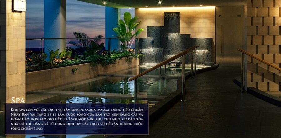 Khu spa Dự án Căn hộ Nagomi Waterfront Tower Nha Trang