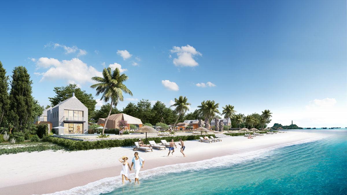 Bãi biển tại Dự án Biệt thự Perolas Villas Resort Bình Thuận