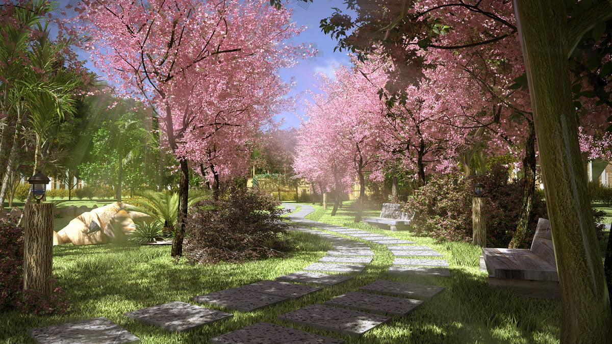 Con đường Hạnh Phúc trong Rừng Nhiệt Đới Perolas Villas Resort
