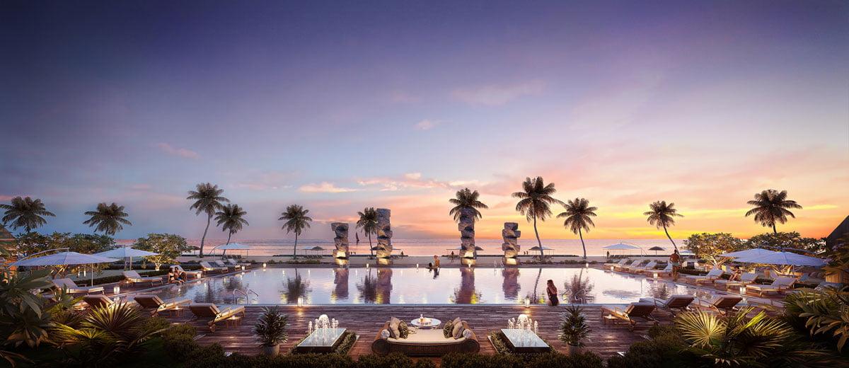 Hồ bơi View Biển Dự án Biệt thự Perolas Villas Resort Bình Thuận