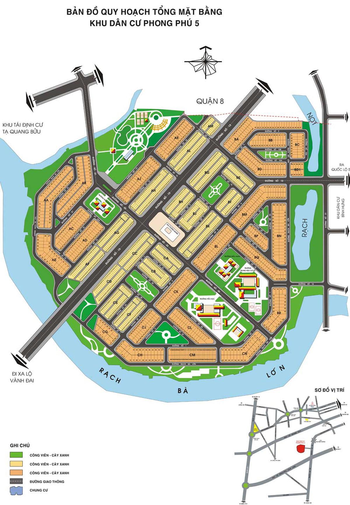Mặt bằng Dự án The Green Village Bình Chánh