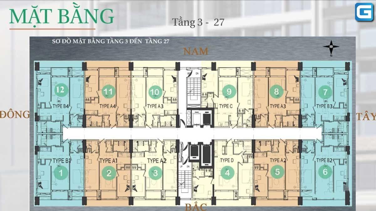 Mặt bằng Dự án Căn hộ Nagomi Waterfront Tower Nha Trang