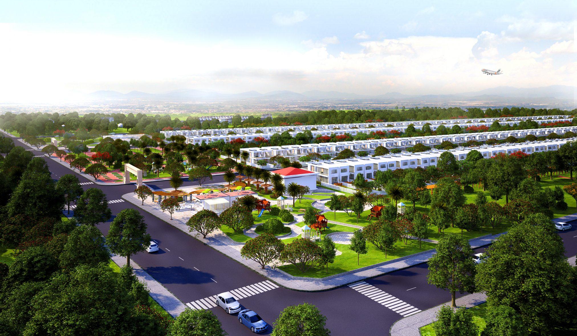 Công viên trung tâm dự án đất nền Phú Mỹ Future City Bà Rịa