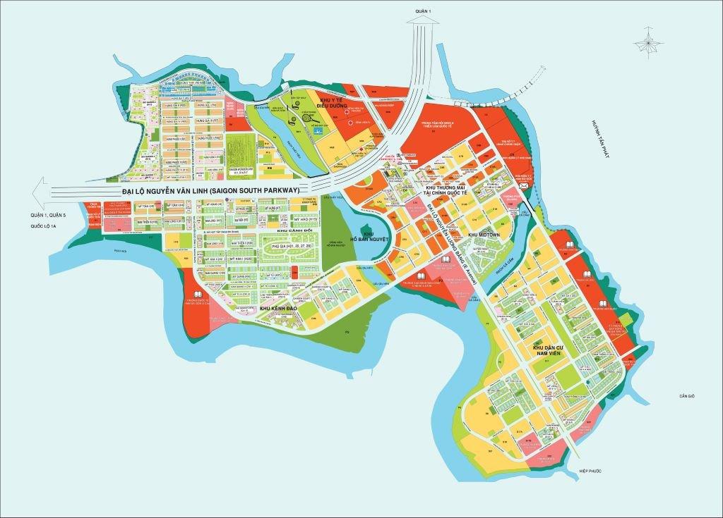 Bản đổ quy hoạch khu đô thị phú ỹ hưng Quận 7
