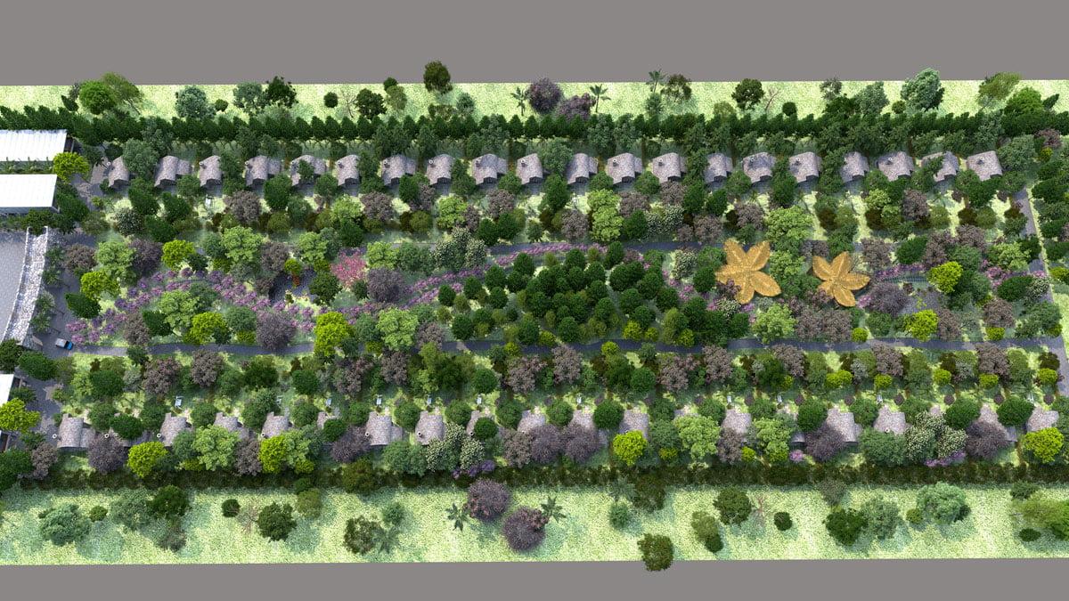 Tổng thể Khu Rừng Nhiệt Đới Dự án Perolas Villas Resort Bình Thuận