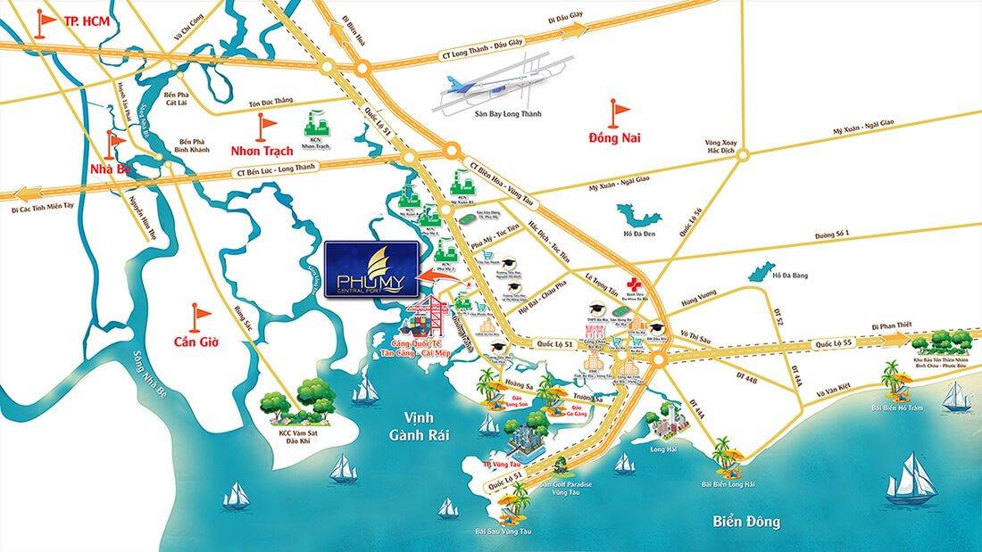 vị trí đắc địa dự án phú mỹ central port