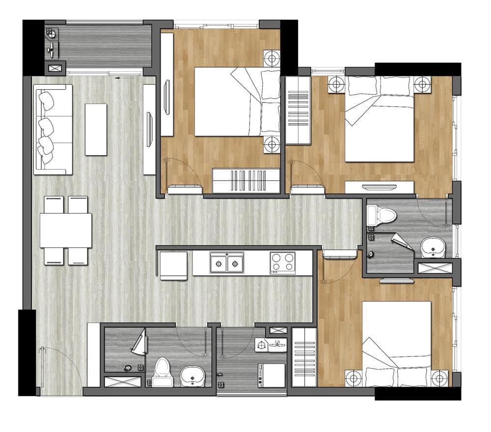 Thiết kế dự án căn hộ chung cư 9x Next Gen Dĩ An Bình Dương Đường Đường Thống Nhất chủ đầu tư Hưng Thịnh