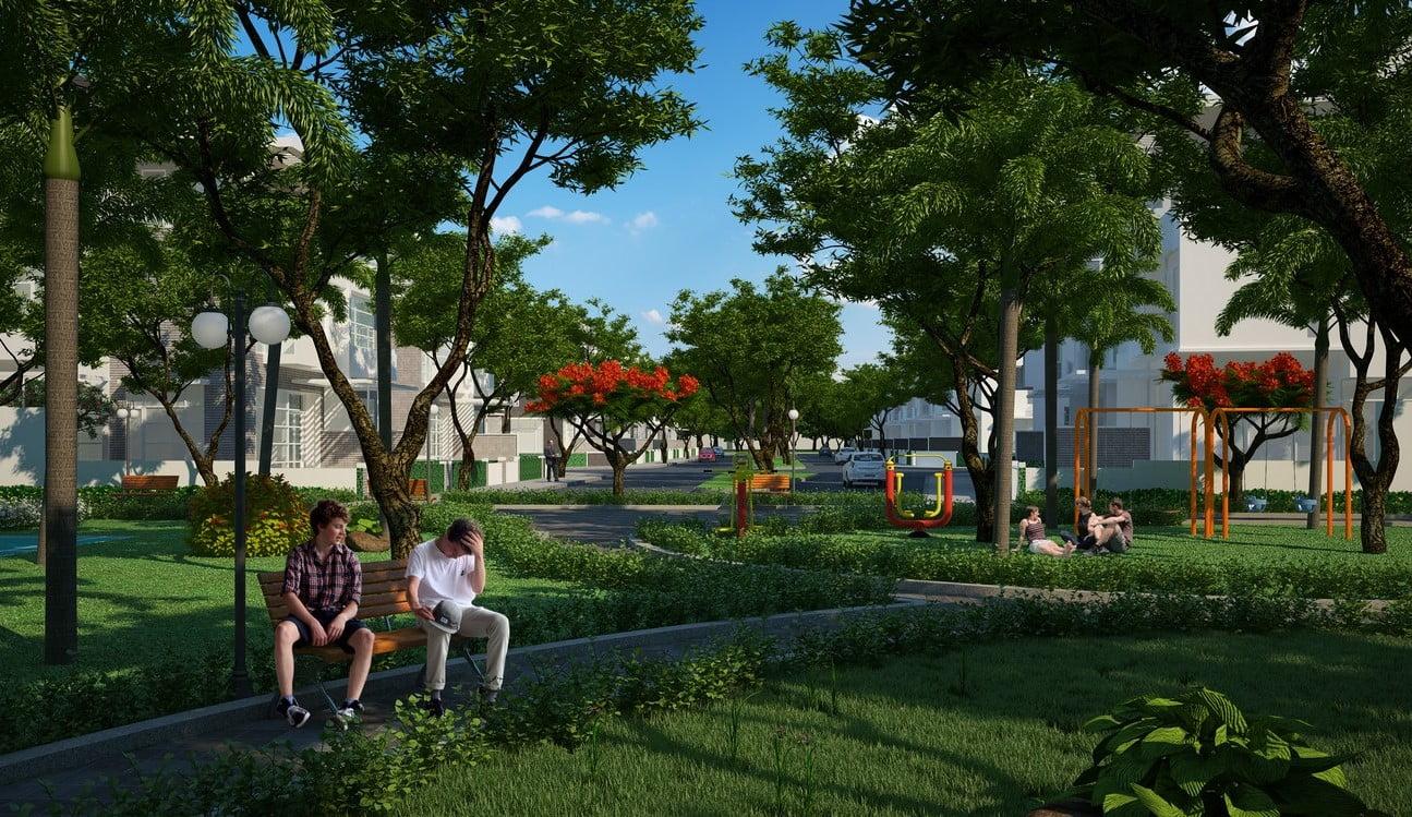 Tiện ích công viên dự án căn hộ chung cư Hồ Gươm Xanh Thuận An City