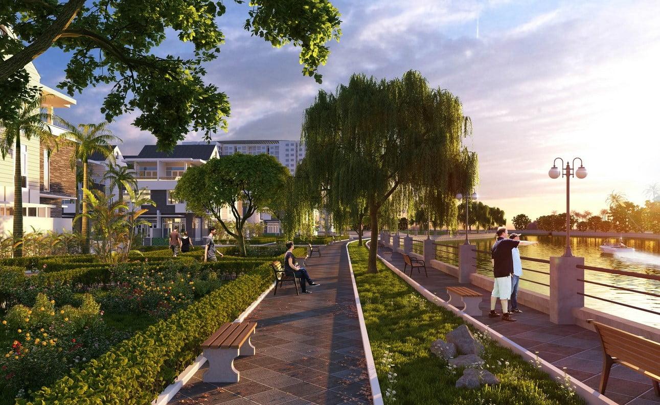 Tiện ích đường dạo bộ dự án căn hộ chung cư Hồ Gươm Xanh Thuận An City Thuận An